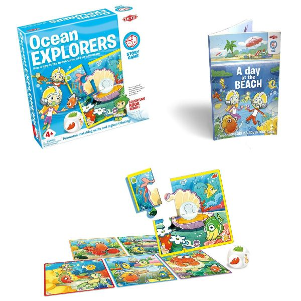 Ocean Explorer Story Game - Family - Kids Board Game By Tactic Games